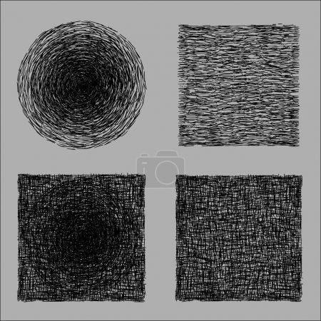 Illustration for Rough hatching drawing texture - Royalty Free Image