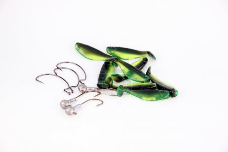 The hook and Fishing lure.