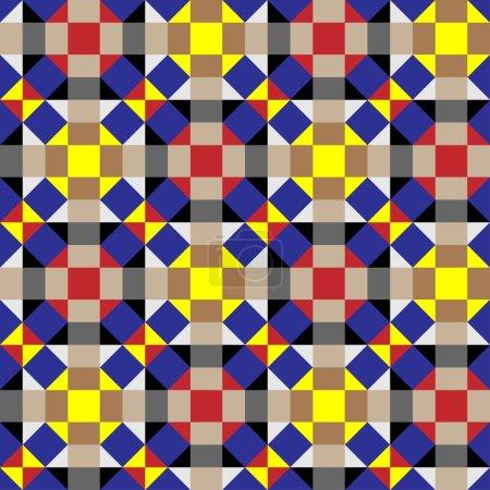 Optical Illusion, Seamless Geometric Pattern...