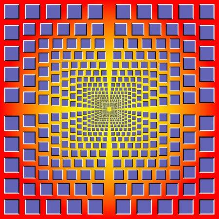 Illustration pour Design abstrait avec des formes géométriques illustration illusion optique - image libre de droit