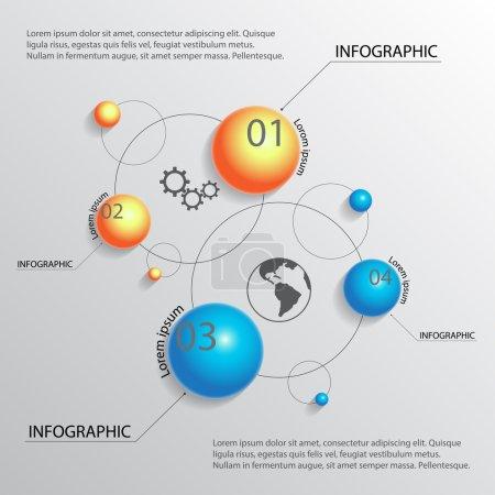 Ilustración de Fondo de infografía para su diseño - Imagen libre de derechos
