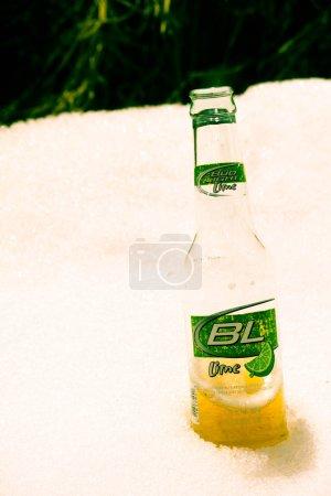 Beer in snow bank...