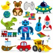 A set of differents cute vector toys...