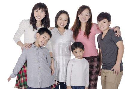 Photo pour Membre de la famille souriant en groupe - image libre de droit