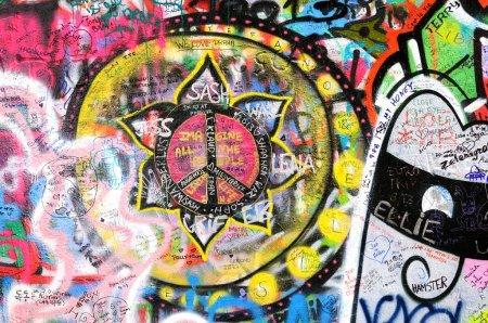 красочные граффити на Джона
