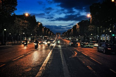 Avenue at evening