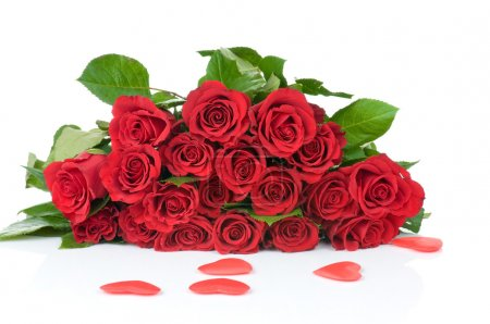 Valentine Hearts with red roses