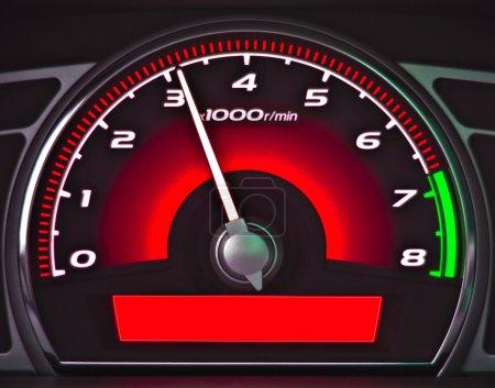 Red dashboard