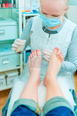 Photo for Pedicure in process - Royalty Free Image