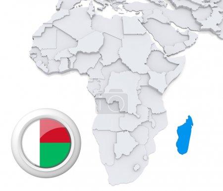 Мадагаскар на карте Африки