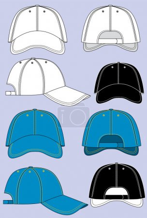 Illustration for Vector baseball caps isolated for design - Royalty Free Image