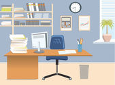 Interior office roomVector illustration