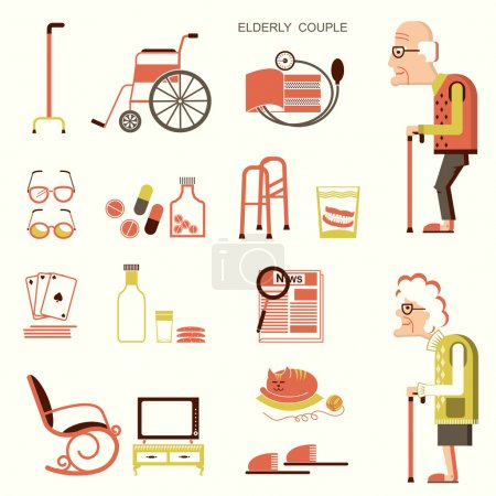 Elderly people and objects for life