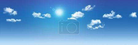 Clouds on sunny sky.