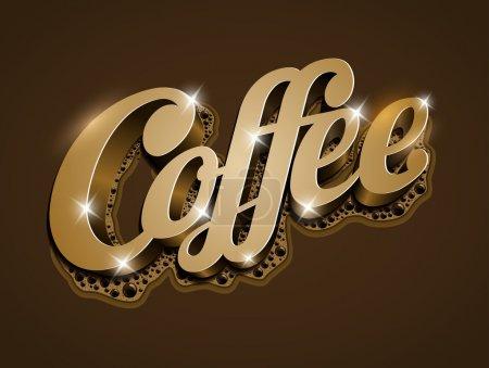 """Illustration pour Texte vectoriel """"Café"""". Tous les éléments sont superposés séparément dans un fichier vectoriel . - image libre de droit"""