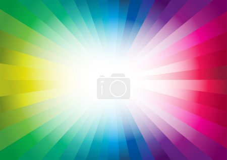 Illustration for Colorful Background. Vector design element. - Royalty Free Image