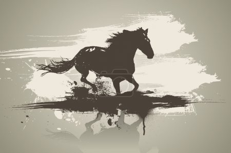 Illustration for Artistic horse vector illustration. - Royalty Free Image
