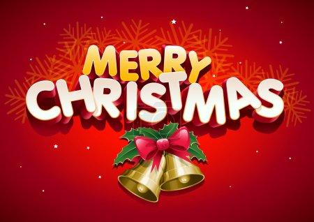 Illustration pour Joyeux Noël. Les éléments sont superposés séparément. Facile à modifier . - image libre de droit