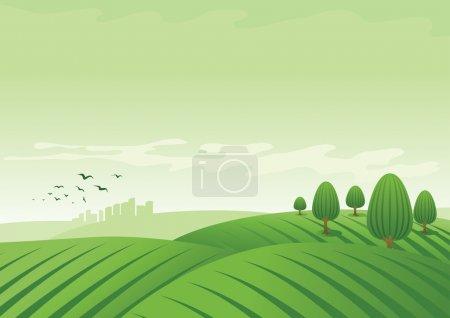 Illustration for Vector landscape illustration. - Royalty Free Image