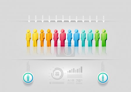 Illustration pour Modèle de conception d'infographique de gens de vecteur. éléments sont couches séparément en fichier vectoriel. - image libre de droit