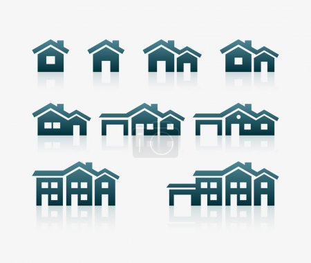 Illustration for Vector various house icon set. - Royalty Free Image
