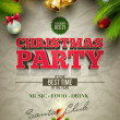 Vector Christmas party poster design template. Elements are layered separately in vector file.