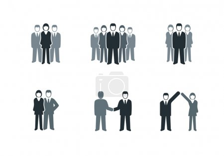 Illustration for Vector business people symbol collection. - Royalty Free Image