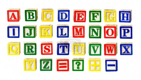 Photo for Toy letters alphabet isolated on white - Royalty Free Image