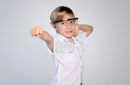 Young boy with goggles