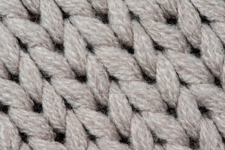 White knitting wool texture background.