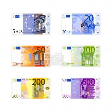 Vector euro banknotes...