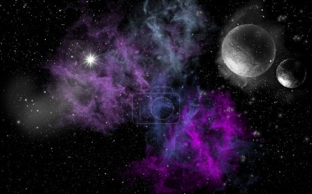Purple Space Clouds