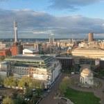Aerial wiev from Birmingham, England, Europe....