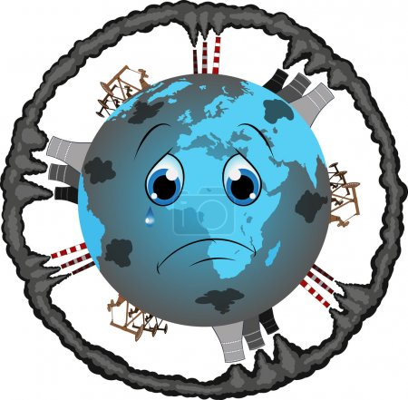Vector illustration: Protect the earth