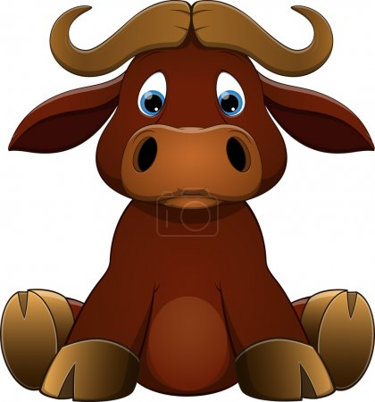 Illustration for Vector illustration: Cute baby calf - Royalty Free Image