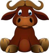 Vector illustration: Cute baby calf