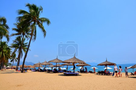 Photo for Nha Trang is a coastal city in Vietnam, famous with beautiful beaches and bays - Royalty Free Image