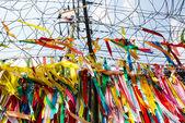 Millions of prayer ribbons, DMZ, Korea