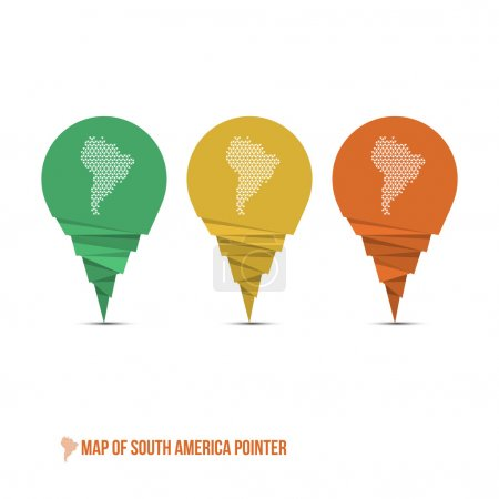 Map of South America Pointer