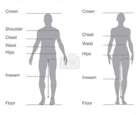 size chart, measurement diagram