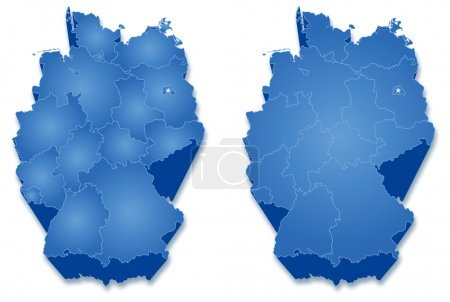 Political map of Germany with all states...