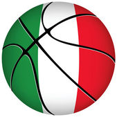 3D basket ball with Italian flag on white