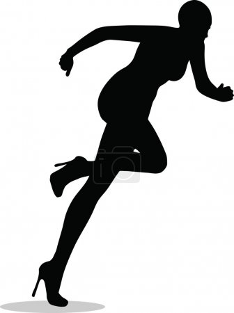 EPS 10 Vector Illustration of female legs with hig...
