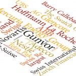 Illustration of the word Swiss Biggest Companies i...