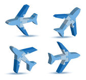 airport airplane icon in puzzle