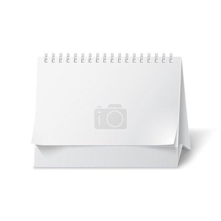 Blank paper desk calendar
