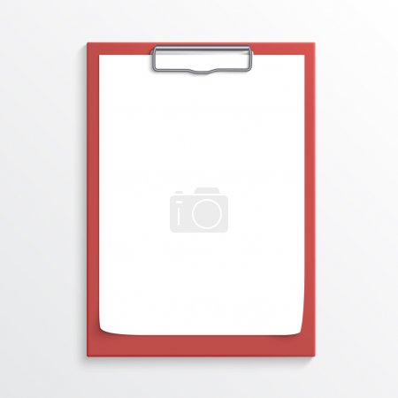 Realistic red clipboard