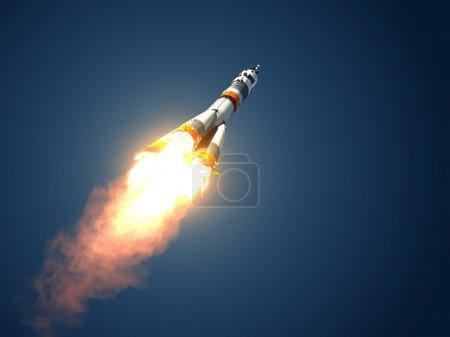 """Carrier Rocket """"Soyuz-FG"""" Takes Off"""