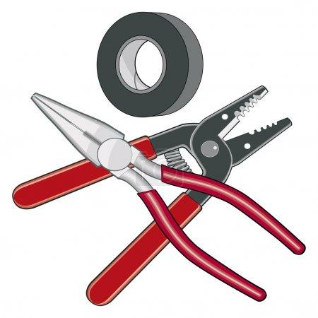 Electrician Tools Logo