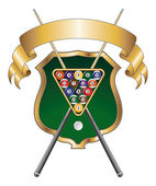 Eight Ball Emblem Design Ribbon